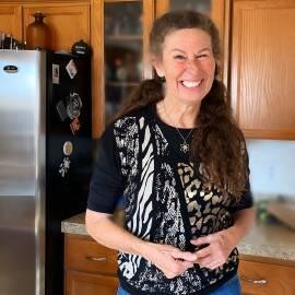 Andrea Pollock in her kitchen.