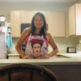 Christina Rico in her kitchen.